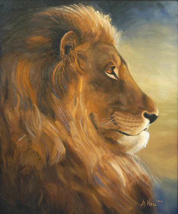 Painting Poster featuring the painting African King by Greg Neal