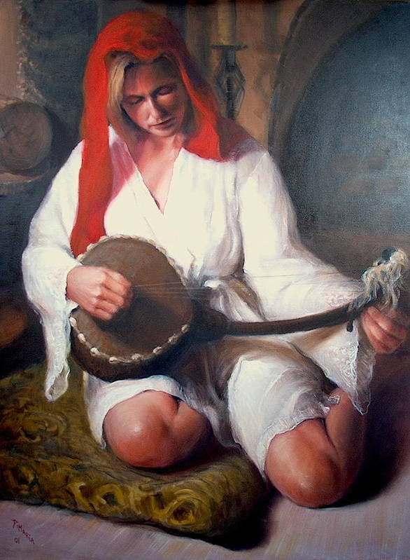 Realism Poster featuring the painting African Strings 1 by Donelli DiMaria
