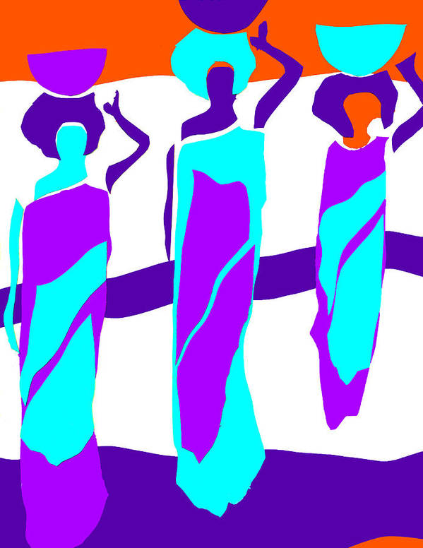 Women Poster featuring the digital art African Sunset by Frank Turner