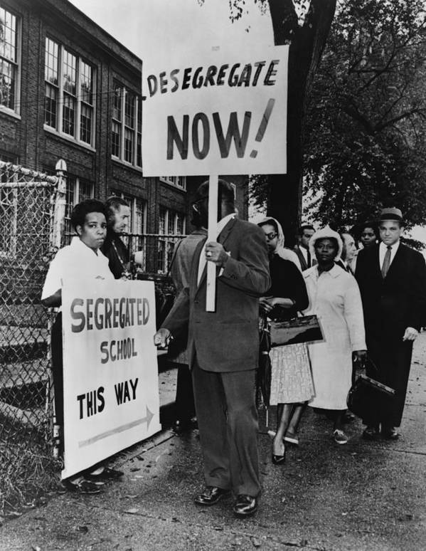 History Poster featuring the photograph Africans American Protest School by Everett