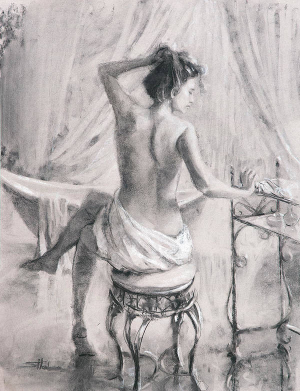 Bath Poster featuring the painting After the Bath by Steve Henderson