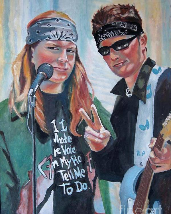Music Poster featuring the painting After The Gig by Gail Zavala