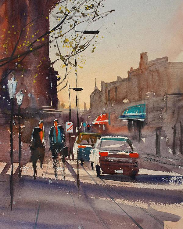 Ryan Radke Poster featuring the painting Afternoon Light by Ryan Radke