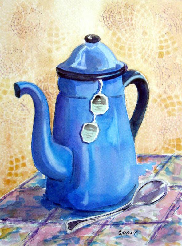 Tea Poster featuring the painting Afternoon Tea by Marsha Elliott