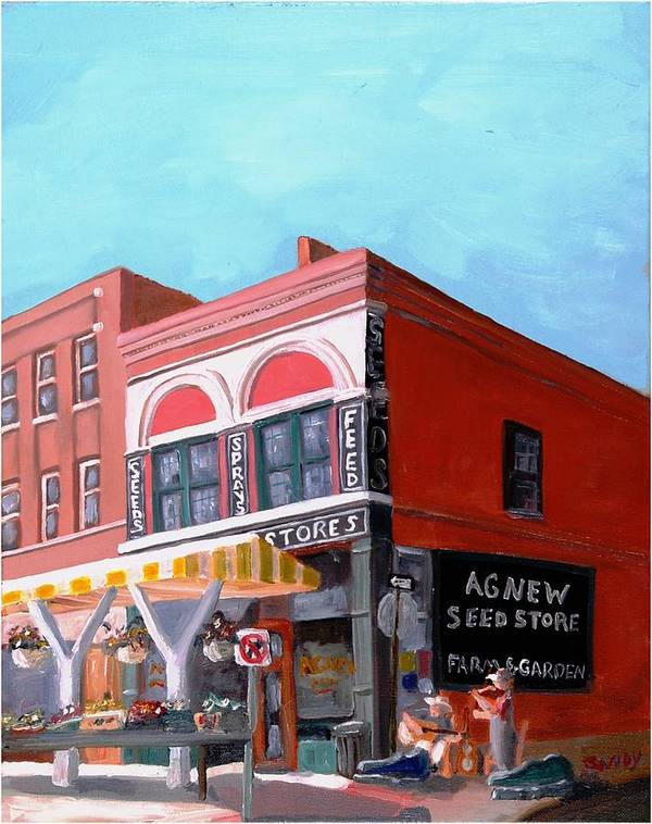 Roanoke Virginia Poster featuring the painting Agnew Feed And Seed by Todd Bandy