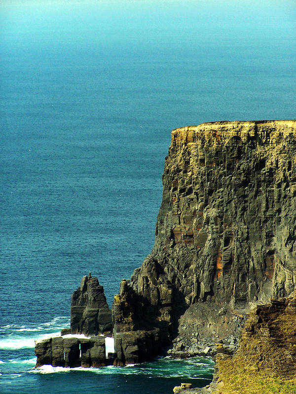 Irish Poster featuring the photograph Aill Na Searrach Cliffs Of Moher Ireland by Teresa Mucha