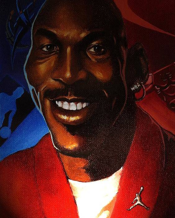 Caricature-portrait Poster featuring the painting Airness by Raphael Sanabria