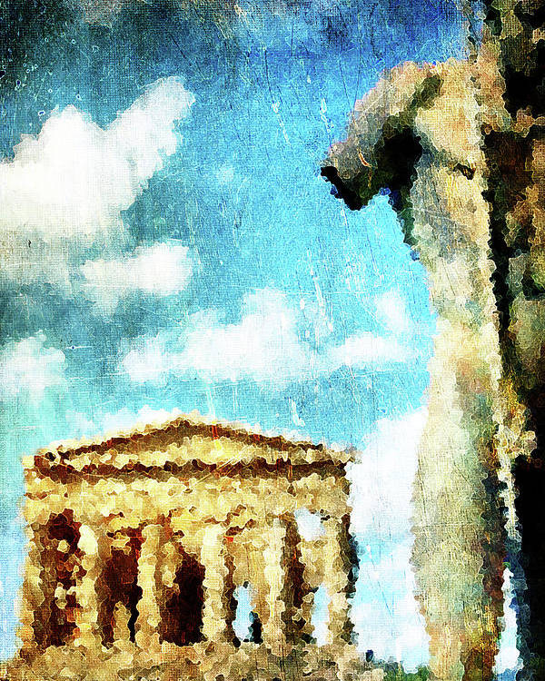 Agrigento Poster featuring the digital art Akragas by Andrea Barbieri