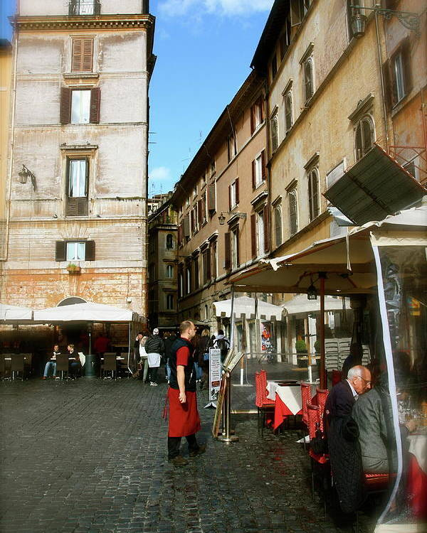 Rome Poster featuring the photograph Al Fresco by Jason Wolters