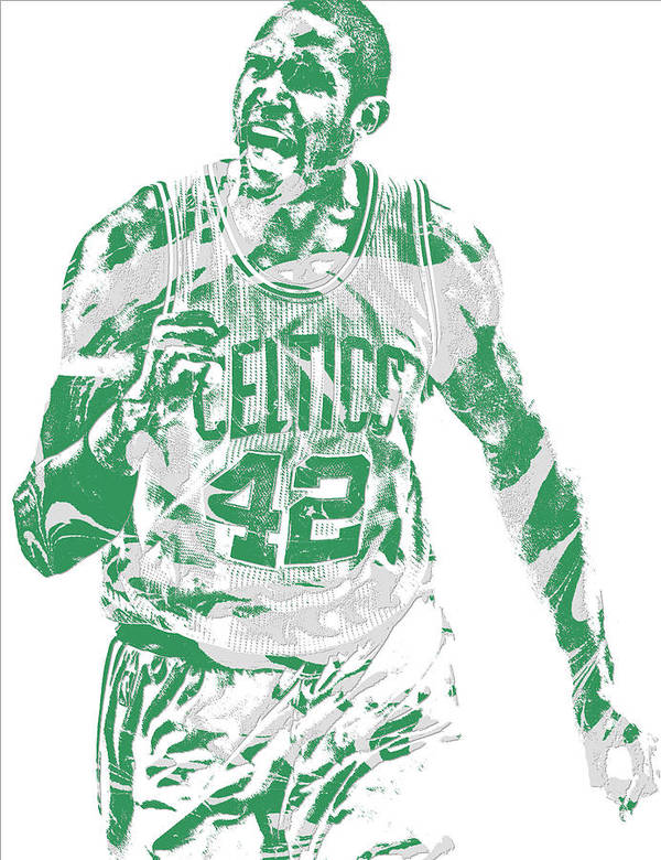 Al Horford Poster featuring the mixed media Al Horford Boston Celtics Pixel Art 7 by Joe Hamilton