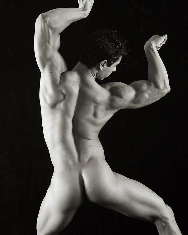 Male Nudes Poster featuring the photograph Alan 1 by Thomas Mitchell