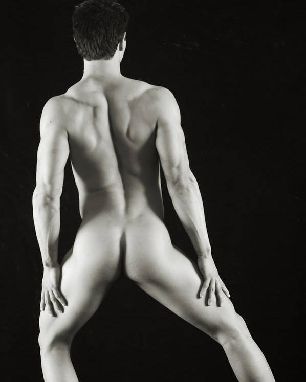 Male Nude Poster featuring the photograph Alan 3 by Thomas Mitchell