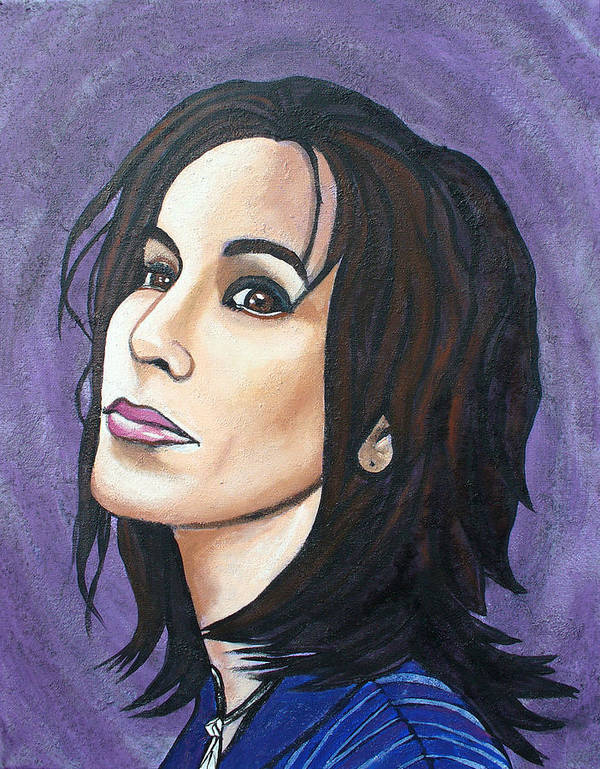 Alanis Morissette Poster featuring the painting Alanis by Sarah Crumpler