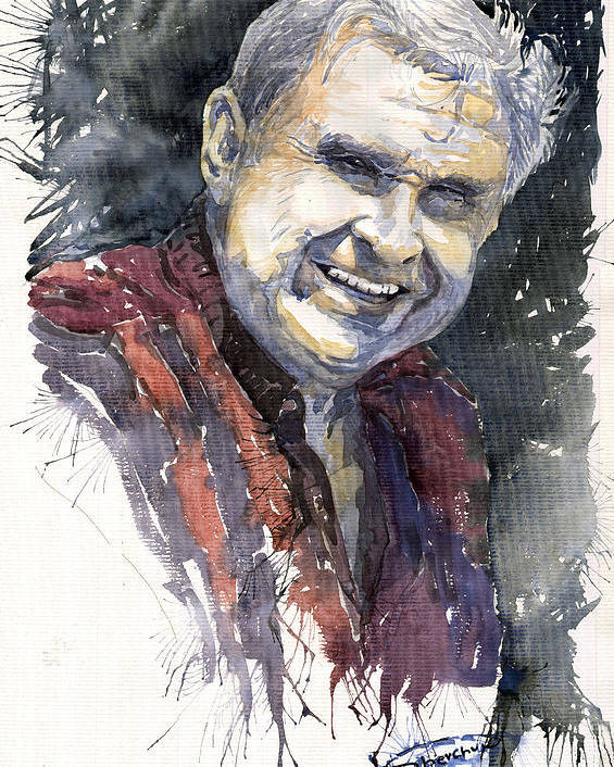 Watercolour Poster featuring the painting Alex by Yuriy Shevchuk