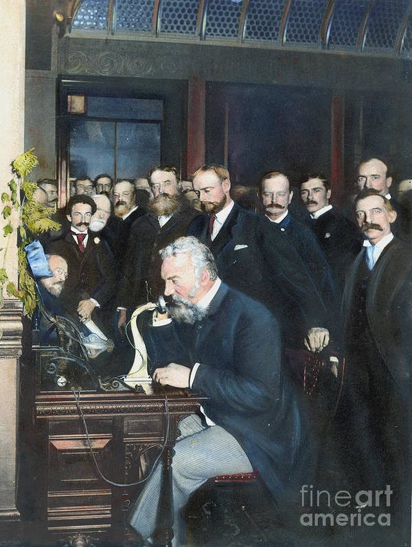 1892 Poster featuring the photograph Alexander Graham Bell by Granger