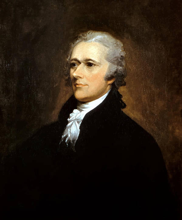 Alexander Hamilton Poster featuring the painting Alexander Hamilton by War Is Hell Store