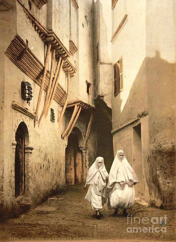 1899 Poster featuring the photograph Algeria: Street Scene, C1899 by Granger