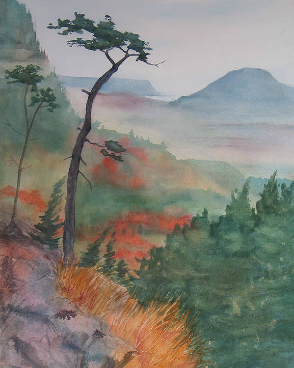 Early Morning Poster featuring the painting Algoma Morning by Debbie Homewood