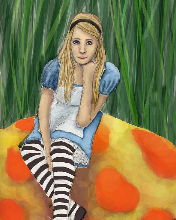 Poster featuring the digital art Alice In Wonderland by Aimee Helsper