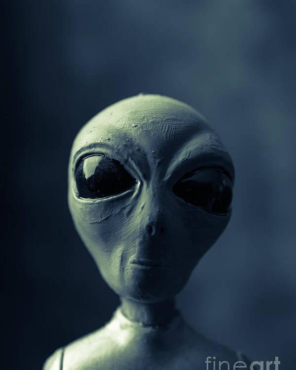 Alien Poster featuring the photograph Alien Encounter by Edward Fielding