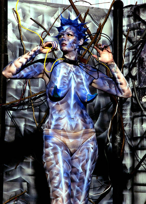 Body Paint Poster featuring the painting Alive by Leigh Odom