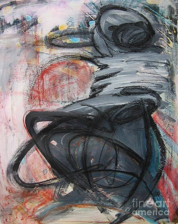 Abstract Paintings Paintings Poster featuring the painting All Alone by Seon-Jeong Kim