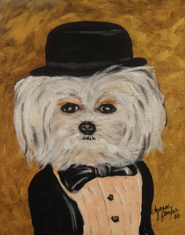 Whimsical Poster featuring the painting All Dressed Up And No Where To Go by Dyanne Parker