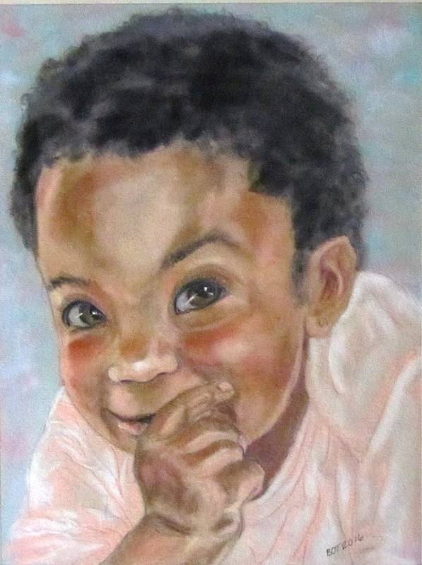 Baby Poster featuring the painting All Smiles by Barbara O'Toole