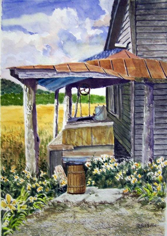 Landscape Poster featuring the painting Almost Indoor Plumbing Sold by Jack Bolin