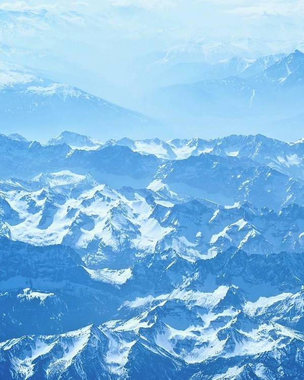 Travel Photography Poster featuring the photograph Alps Iv by Aaris K