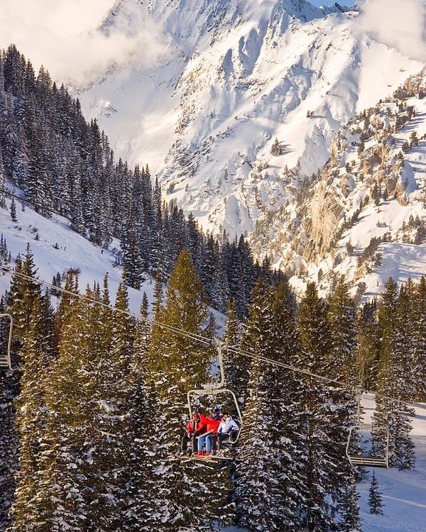 Alta Ski Resort Poster featuring the photograph Alta Ski Resort Wasatch Mts Utah by Utah Images