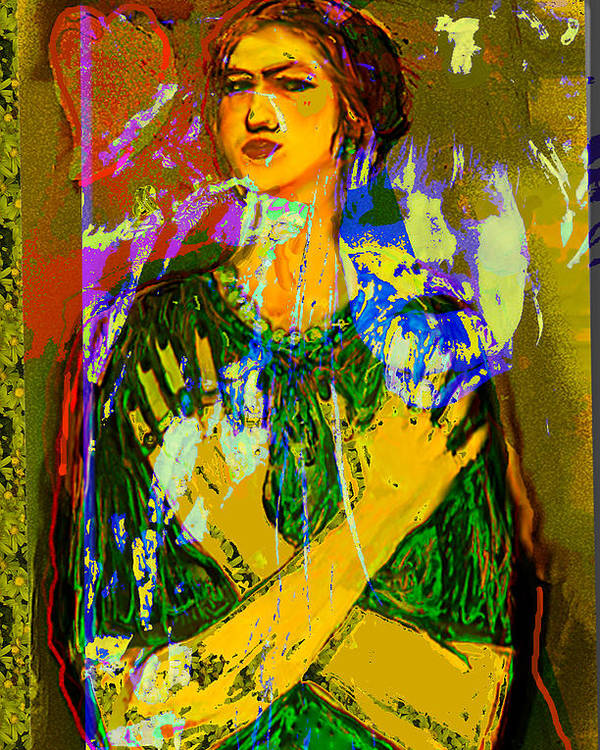 Portrait Poster featuring the painting Alter Ego 2 by Noredin Morgan