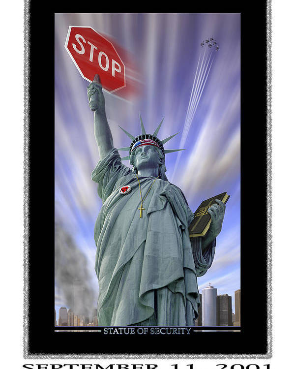 Surrealism Poster featuring the photograph America On Alert II by Mike McGlothlen