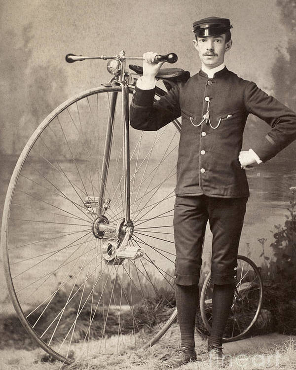 1880s Poster featuring the photograph American Bicyclist, 1880s by Granger