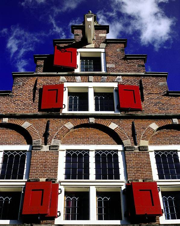 Dutch Poster featuring the photograph Amsterdam Windows by Randall Paar