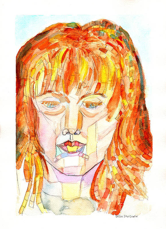Facial Planes Poster featuring the painting Face Planes by Debbie Davidsohn