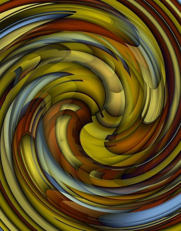 Abstract Poster featuring the digital art An Amazing Capture by Terry Mulligan