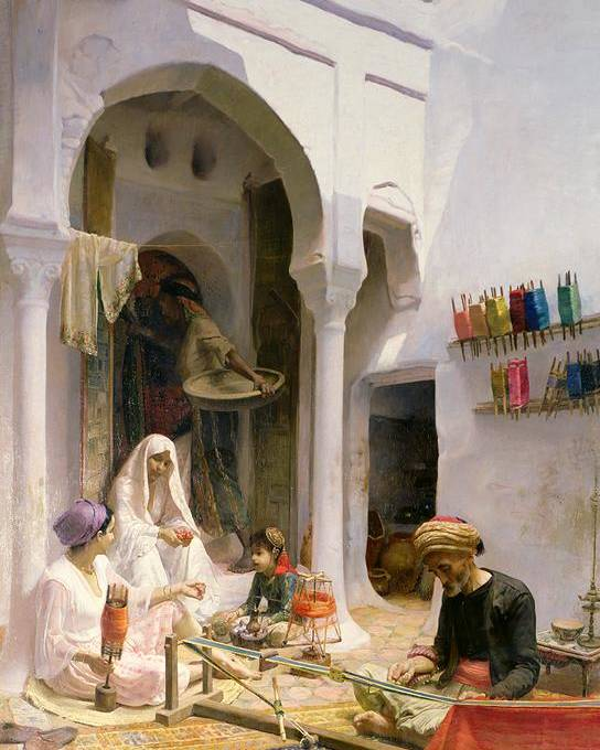 Arab Poster featuring the painting An Arab Weaver by Armand Point
