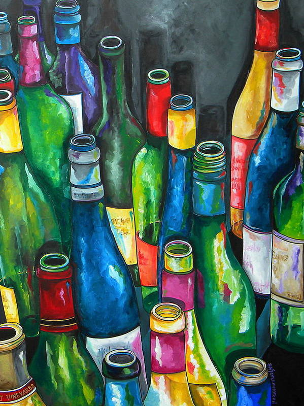 Wine Poster featuring the painting An Evening With Friends by Patti Schermerhorn