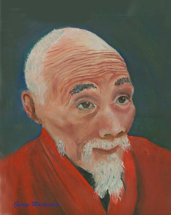 Portrait Poster featuring the print Ancient Wisdom by George Markiewicz