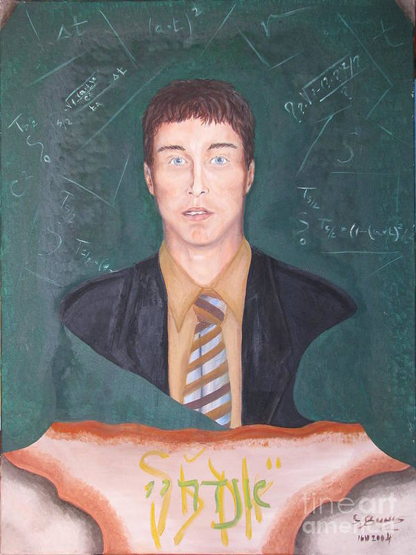 Art Poster featuring the painting Andrey by Svetlana Vinokurtsev