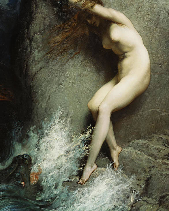 Andromeda Poster featuring the painting Andromeda by Gustave Dore