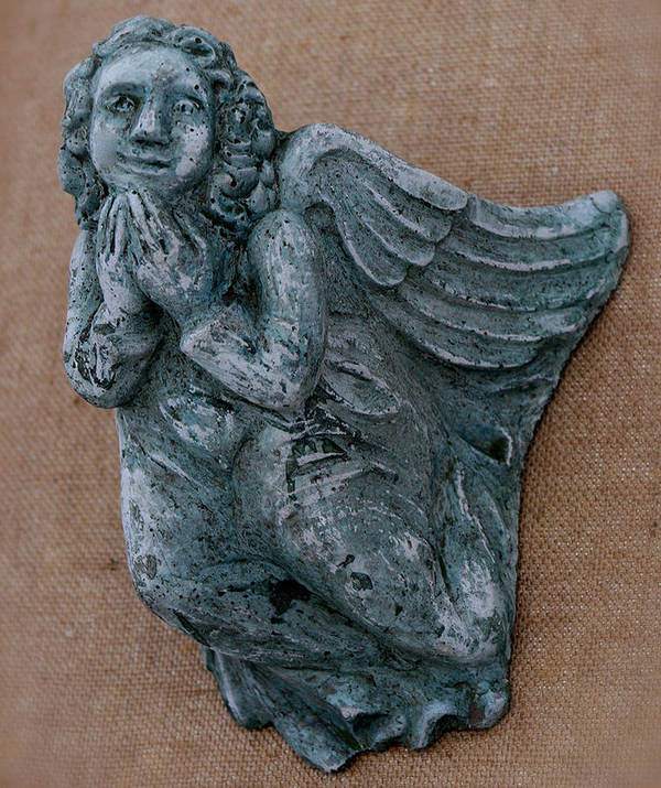 Angel Poster featuring the sculpture Angel by Katia Weyher