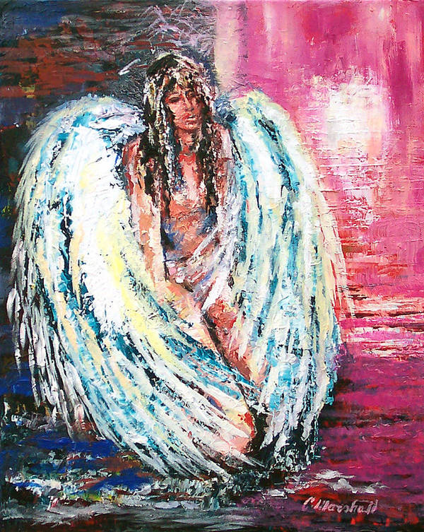 Art Poster featuring the print Angel Of Dreams by Claude Marshall