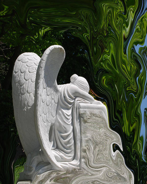 Angel Poster featuring the photograph Angel by Patricia Motley