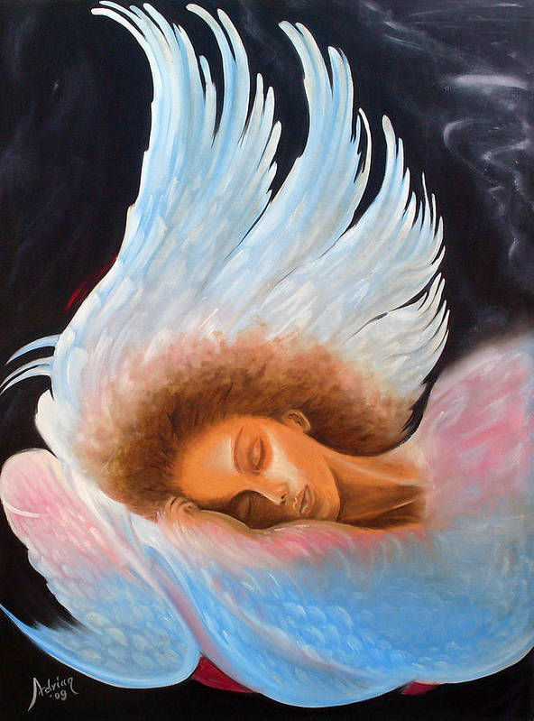 Angel Poster featuring the painting Angelic Dream by Adrian Olteanu
