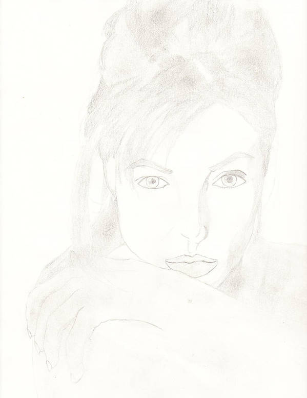 Celebrities Poster featuring the drawing Angelina by Carlos Hyman