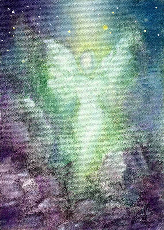 Angel Poster featuring the painting Angels Journey by Marina Petro