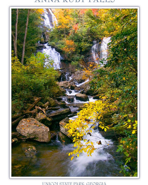 Landscape Poster featuring the photograph Anna Ruby Falls by Peter Muzyka