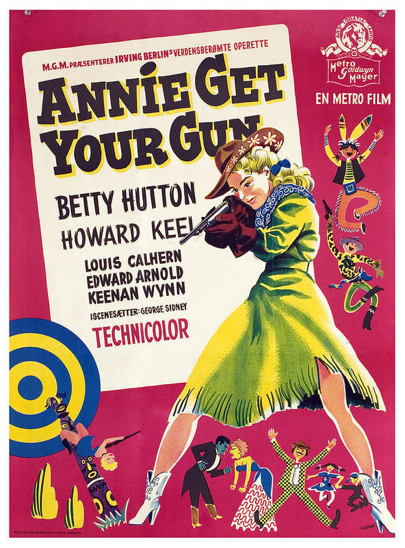 1950 Movies Poster featuring the photograph Annie Get Your Gun, Betty Hutton, 1950 by Everett